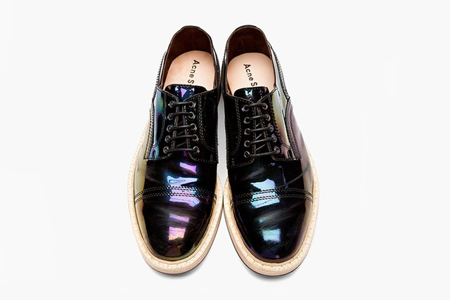 Acne Iridescent Patent Derby Shoes