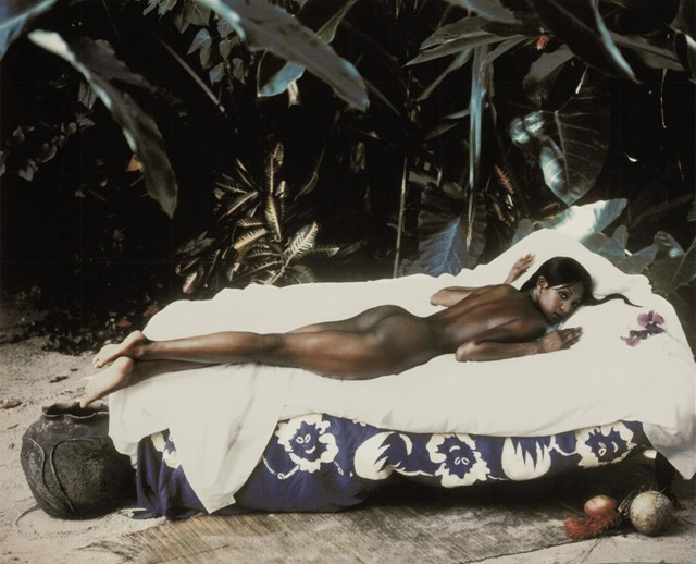 Naomi Campbell as Paul Gauguin's 'Manao Tupapau'