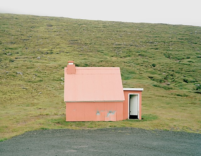 Pink shed.