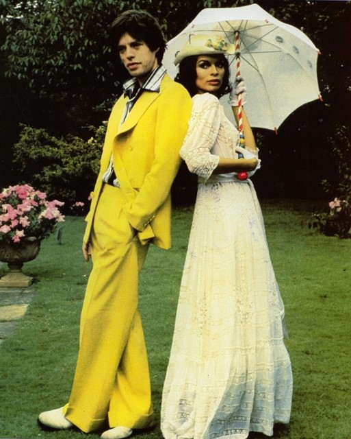 Mick Jagger in yellow