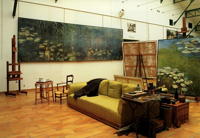 The waterlily studio at Claude Monet's home in Giverny