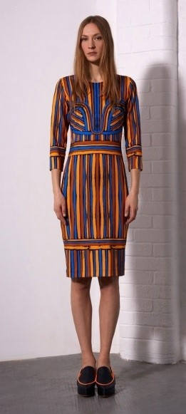 Painted Stripes Dress
