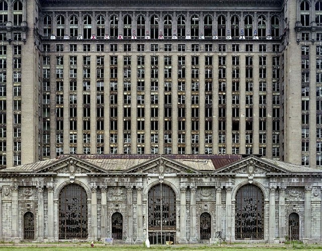 The derelict Michigan Central Station, Detroit