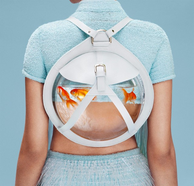 Fishbowl backpack by Cassandra Verity Green