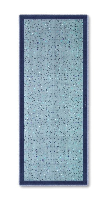 Cashmere stars scarf by Benjamin Seidler for Asprey