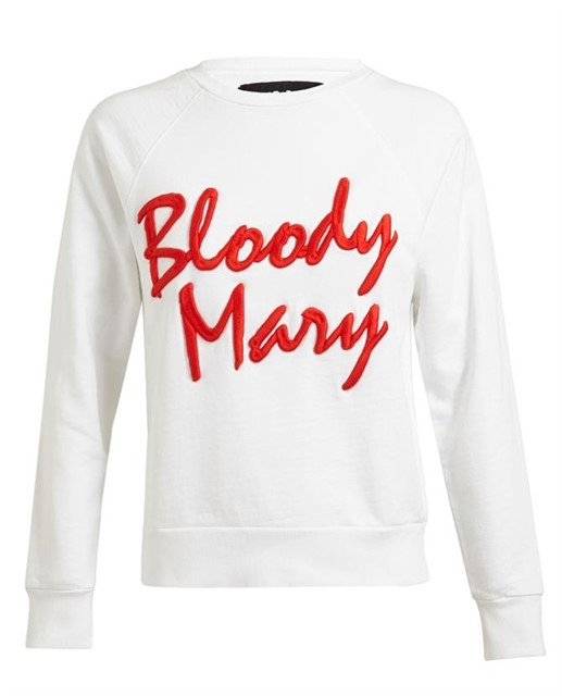 Bloody Mary Motif Cotton Sweatshirt by Filles a Papa