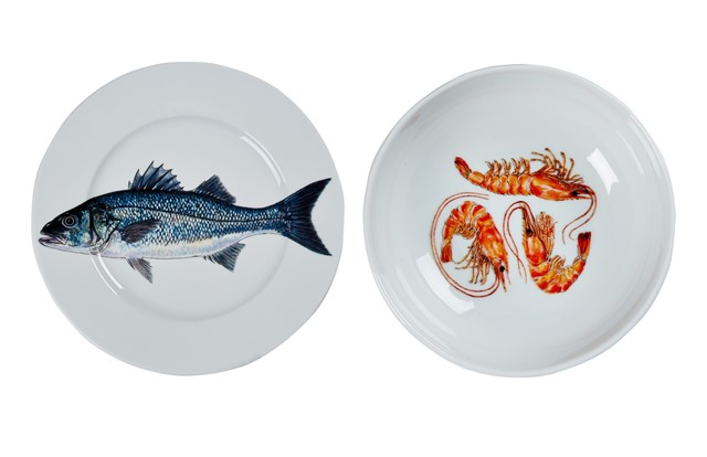 Sea Bass and Shrimp dinner plate from Liberty