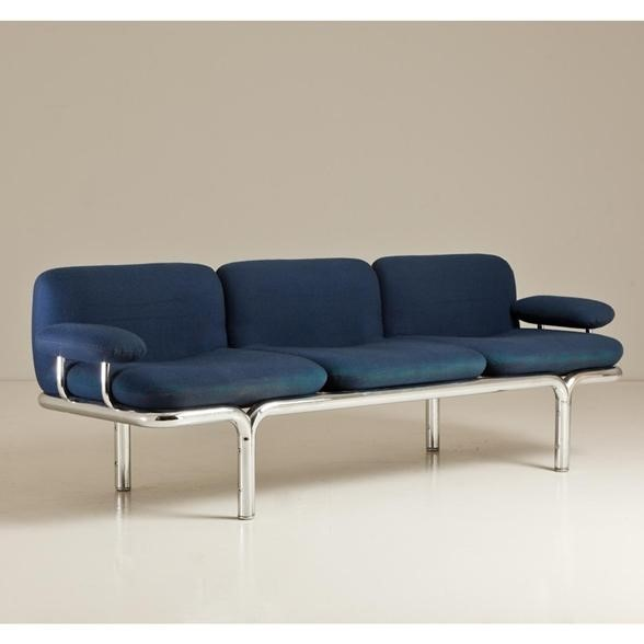A Pace Tubular Framed Sofa 1960s