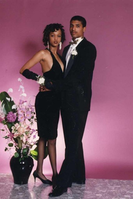 Tyra Banks at her prom