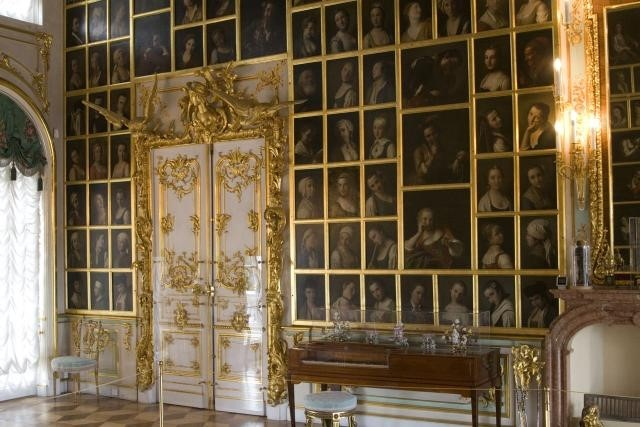 The 'Room of Fashions and Graces' Peterhof Palace, St Petersburg