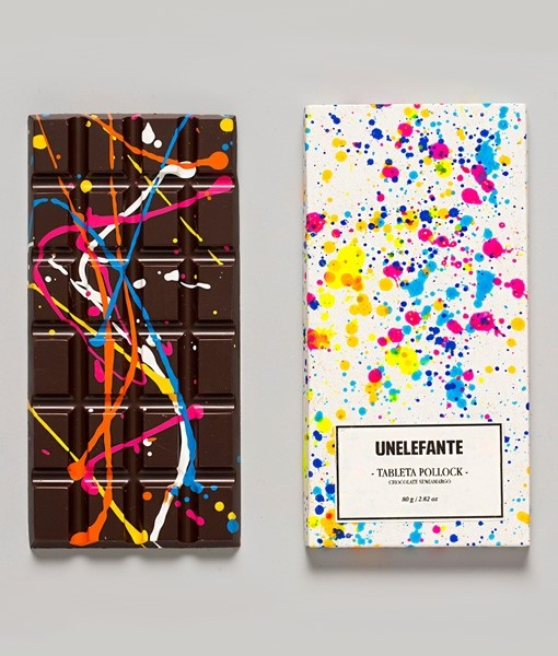 """Pollock"" handpainted chocolate bar"