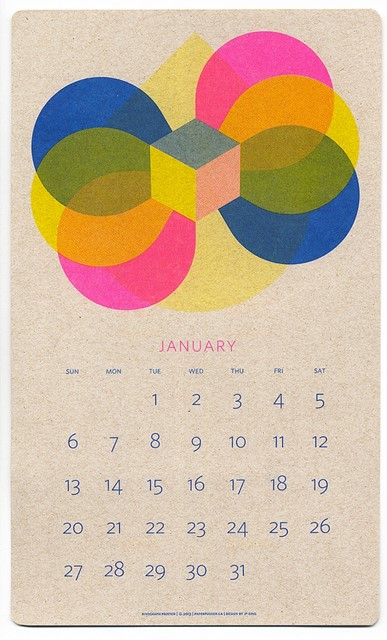 Isometric Calendar by JP King and Paper Push Printworks