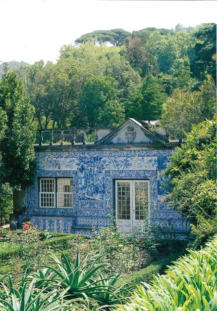 A house covered in Portuguese tiles