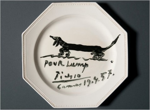 Lump plate by Pablo Picasso