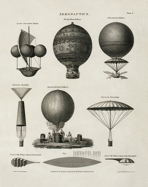 Hot Air Balloon Designs, 1818