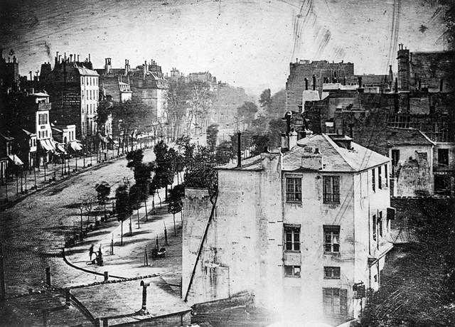 The first photograph to feature a human, Paris, 1838