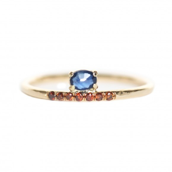 Mociun stacked Sapphire ring
