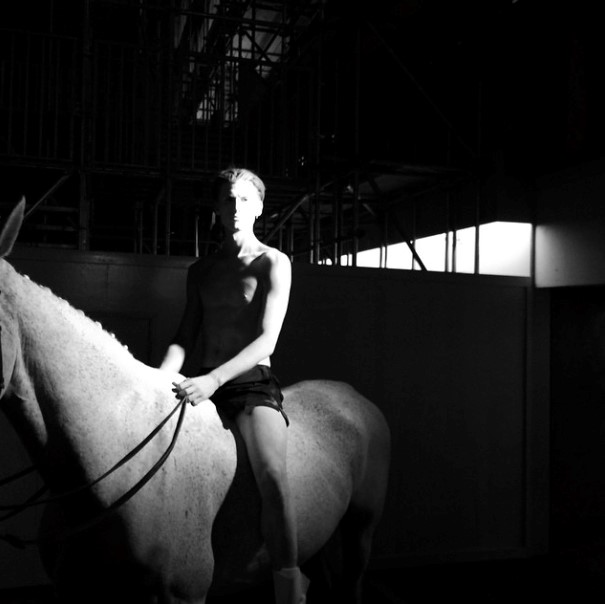 White horse at World of Rick Owens x Selfridges party
