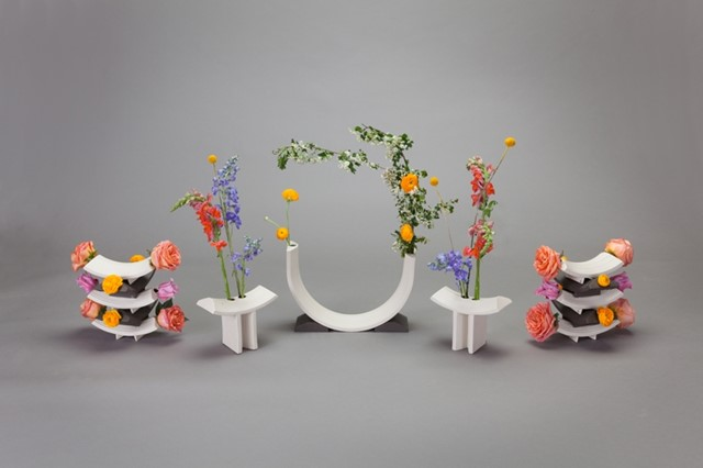 Rainbow vases by Bethan Laura Wood