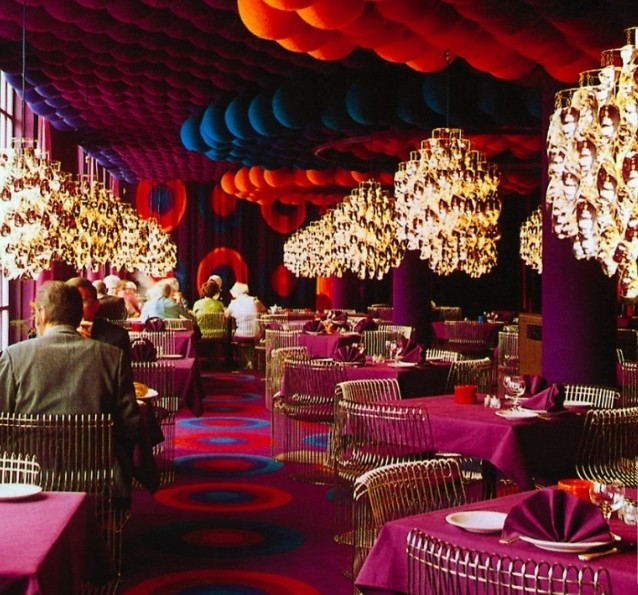 Restaurant by Verner Panton at Varna Palace, 1971
