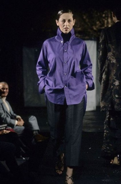 Isabella Blow in McQueen's AW 1994 show