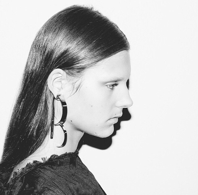 chic earrings at Loewe SS15