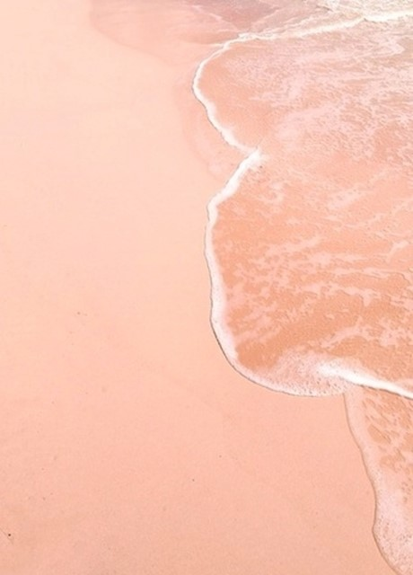 Pale pink sand