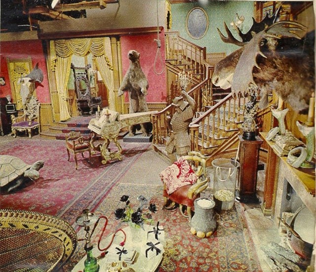 The Addams Family Living Room In Colour