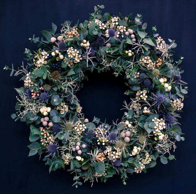 Christmas wreath by Flora Starkey