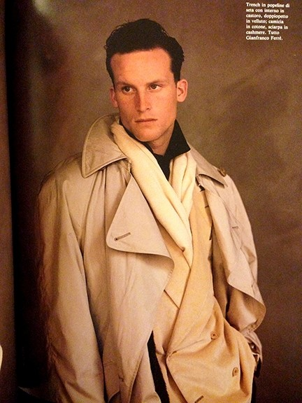 Matthew Barney in Gianfranco Ferre, 1988.