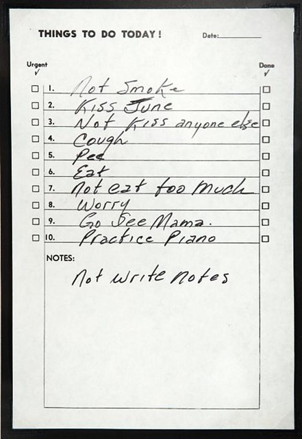 Johnny Cash's To-Do List