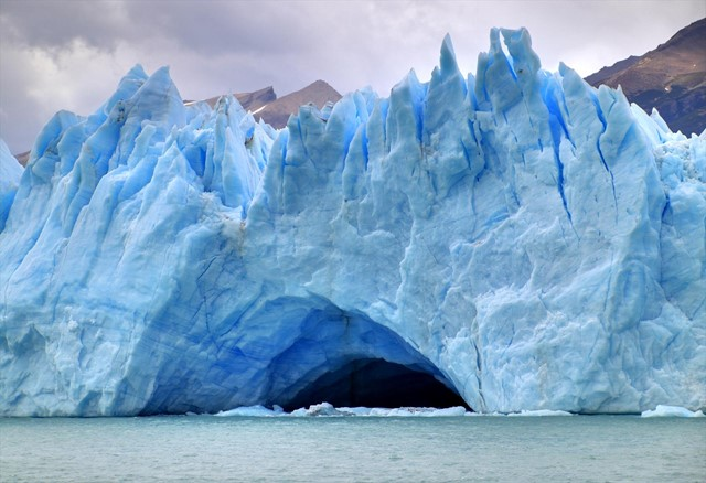Ice cave at the Perito Moreno Glacier in Argentina