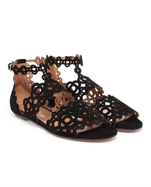 Laser-cut Chamois Leather Sandals by Azzedine Alaïa