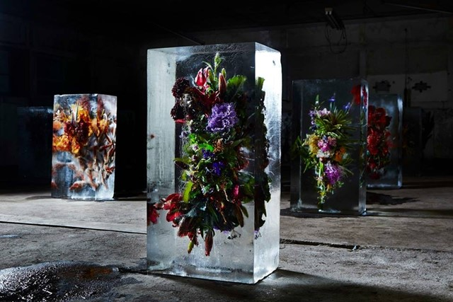 Floral Bouquets in Ice by Makoto Azuma