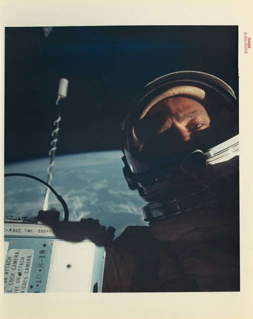 First selfie in space, 12 November 1966