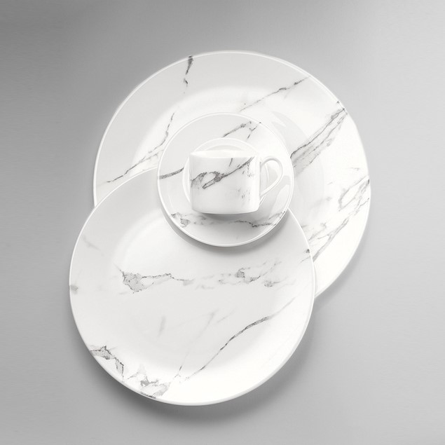 'Carrara' marble inspired china