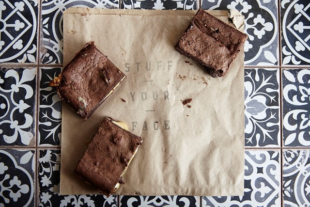 Salted Caramel Brownies from Harringay Local Store