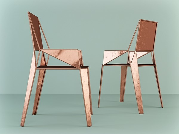 Copper chairs by Dmitry Kozinenko