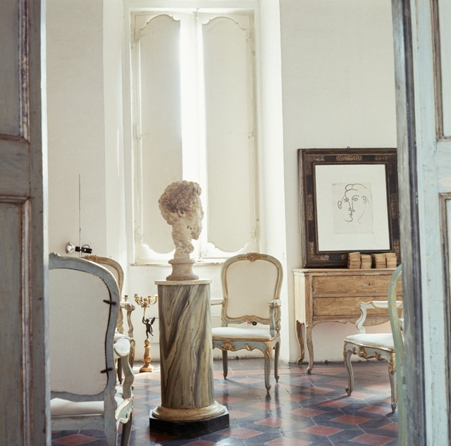 Cy Twombly's House in Rome, by Horst P. Horst