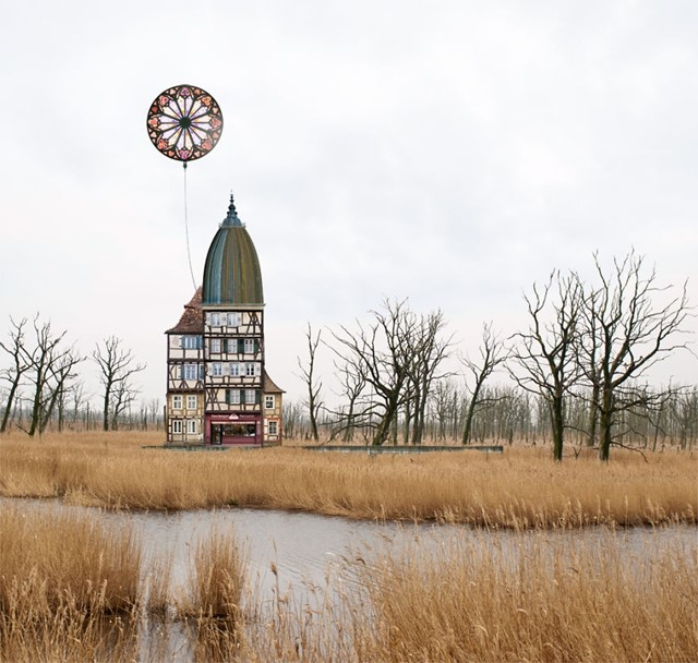 Surreal Architectural Collages by Matthias Jung