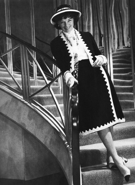 Katharine Hepburn as Coco Chanel