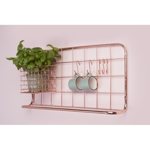 Copper Kitchen Shelf