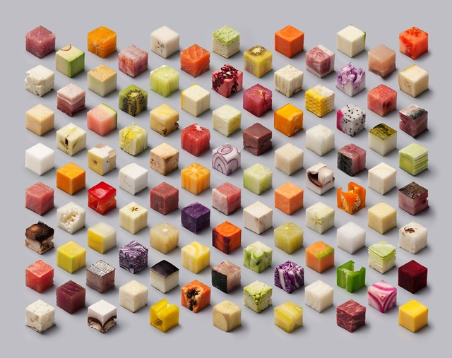 Food in perfect cubes