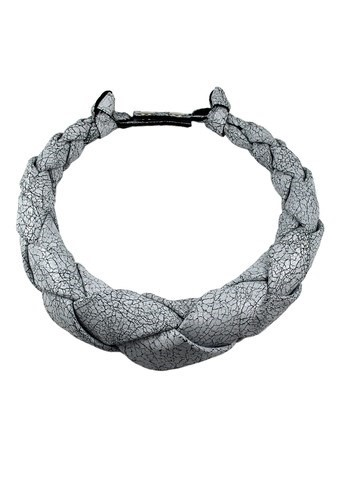 NEO WHITE NOISE Leather choker