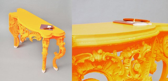 Intricate 3D printed sideboard