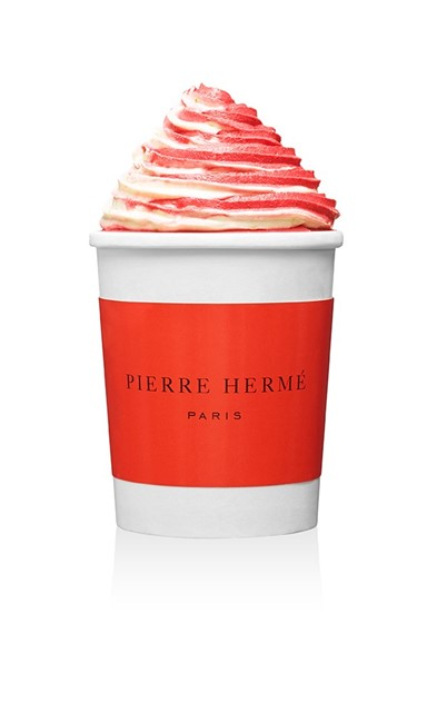 Lime and raspberry sorbet with Espelette pepper by Pierre Hermé