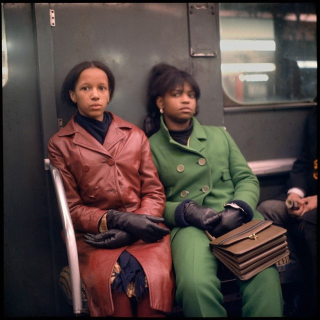 Two Women on a Subway by Danny Lyon (1966)