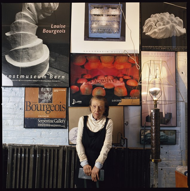 Louise Bourgeois at her Brooklyn studio, April 199
