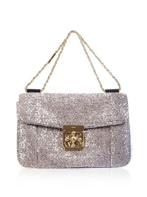 Chloe Elsie Glitter Tweed Bag
