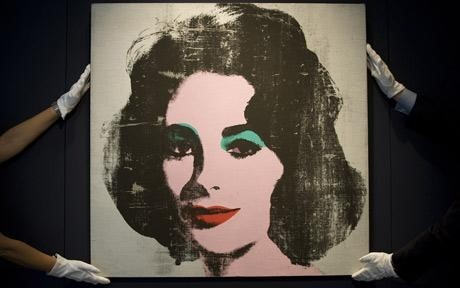 Rare Andy Warhol portrait of Liz Taylor on sale at Christie's